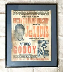 Joe Louis and Arturo Godoy Boxing Motion Picture Advertisement $185.00