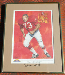 9 1991 to 2000 Kansas City Chiefs Hall of Fame signed by the player an artist