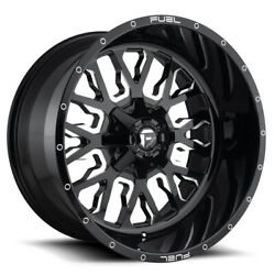 Fuel Stroke D611 Rim 22x7 4x156 Offset 13 Gloss Black And Milled Quantity Of 4