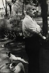 1947 Vintage WILLIAM FAULKNER Writer Rat Terrier Dog HENRI CARTIER-BRESSON Photo