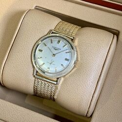Longines By Wittnauer 34mm Vintage Circa 1956 Yellow Gold Manual Wind