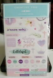 Creative You Christian Religious Planner  Appointment Sticker Book - 20 Sheets