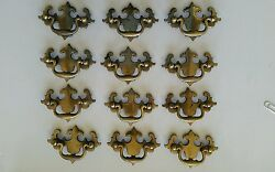 Set Of 12 Matching Old Vintage Used 2 1/2 Inch Center To Center Drawer Pulls 2a