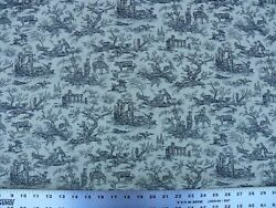 14.25+1+1.5y Scalamandre French Toile Farm Amuse Bouches Black Msrp392/y