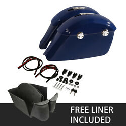Blue Saddlebags Electronic Latch Andcarpet Liner For Indian Chieftain Classic 2018