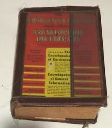 Veg Rare Chicago 1949 The Consolidated Webster Encyclopedic Dictionary Gardening