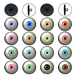 5 Pairs Multi-Colors Doll Eyes Buttons Glass Cabochon Sewing on DIY Accessories