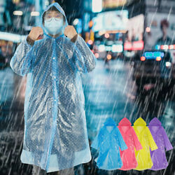 Disposable Emergency Waterproof Rain Coat Poncho Camping Protective Suit Lot