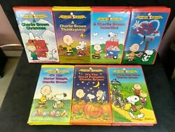 Charlie Brown Peanuts Classic TV Special Clamshell VHS Tapes Pick Your Video