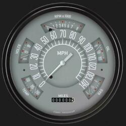 1966-1977 Ford Bronco Grey Gauges Classic Instruments Fb66g Made In Usa