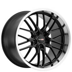 4 18/19 Staggered Cray Wheels Eagle Gloss Black With Mirror Lip Rimsb31
