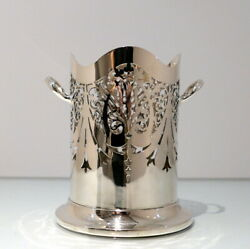 Early 20th Century Modern George V Sterling Silver Siphon Stand Birmingham 1930