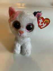 Ty Beanie Boo Muffin The Cat 6 Rare No Whiskers Glitter Eyesnew With Tags