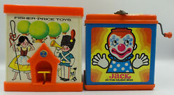 Vintage Toys 1970 Fisher Priice And 1971 Mattel Jack In The Box Set Sk