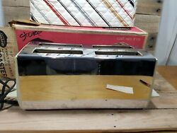 Vintage Sunbeam Automatic 4 Slice Toaster Model T-75 Clean W Box And Toaster Cover