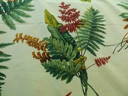 23.5yds Scalamandre Felce Cotton Fern Yellow Turtle Dragonfly Newt Msrp276/y