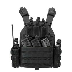 Tactical Vest With Mag Pouch Intercom Bag Holder Molle Carrier Hook And Loop Size