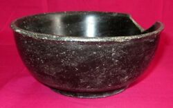 Indian Antique Hand Carved Black Stone Kitchenware Bowl