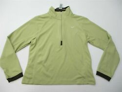 NIKE 1 4 Zip Pull Over Women#x27;s Size S Active Performance Lightweight Lime Green $15.75