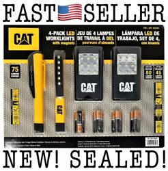 4-pack Cat Led Worklights With Magnets And 12 Duracell Batteries - Sealed Fast