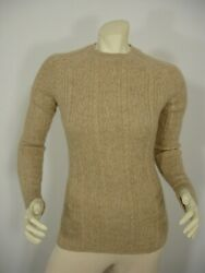 Brooks Brothers Beige Camel Hair Cable Crew Neck Long Sleeve Sweater Womenand039s S