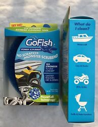 Gofish No Scratch Power Scrubber For Car Truck Boat Atv Rv Grills, Lot Of 2
