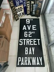 Ny Nyc Subway Roll Sign Bay Parkway Ocean Gravesend Brooklyn 62 St. New Utrecht