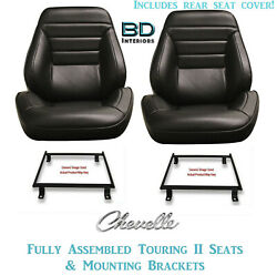 1965 Chevelle Convertible Touring Ii Front Bucket Seats - Rear Cover And Brackets