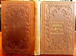 Boston Mass. Almanac Business Directory 1849 Guidebook W/lg. City Plan Map And Ads