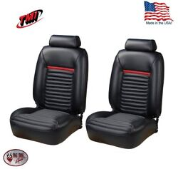 1981 - 93 Fox Body Mustang Coupe Low Back Mach I Style F/r Seat Upholstery