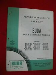1940-1941 Buda Engine Repair Parts-illustrations Manual 4-cyl Engines 23 Pgs