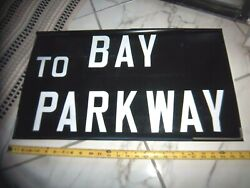 Ny Nyc 1971 Bus Roll Sign Brooklyn Bay Parkway Ocean Ave. Midwood Gravesend Bay