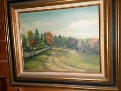 Old Antique Oil Painting Wooden Frame