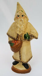 Extremely Rare 1986 Vaillancourt Folk Art 105w Father Christmas W/ Pointed Hood