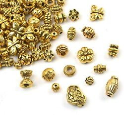 20 Spacer Beads Antique Gold Findings Assorted Lot Jewelry Making Mix