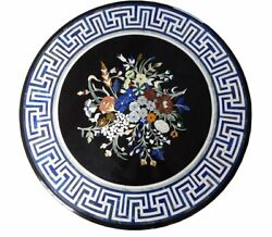 48 Marble Center Dining Table Top Pietra Dura Marquetry Inlay Work Home Decor