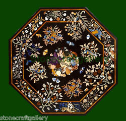 42 Coffee Table Top Marble Pietra Dura Craft Handmade Home Decor Gifts