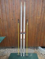 Great Ready To Use Cross Country 81 Long Artis 205 Cm Skis + Poles