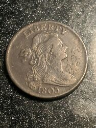 1803 Draped Bust Large Cent Small Date Large Fraction Amazing Details Ch Au
