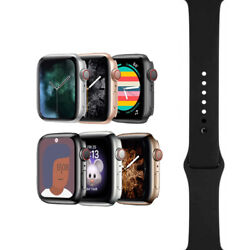 Apple Watch Series 4 - 40mm/44mm - All Case Colors - Black Sport Band - Gps/lte