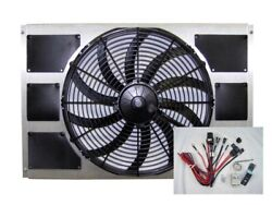 Spal 30102049 Fan And Old Air Shroud 16-3/4hx25-1/4wx4d Harness And Adj. Sensor