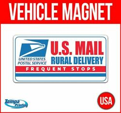 Us Mail Rural Delivery Heavy Duty Vehicle Magnet Truck Car Sticker Sign Carrier