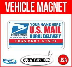 Us Mail Rural Delivery Custom Name Heavy Duty Vehicle Magnet Truck Car Sign Usa