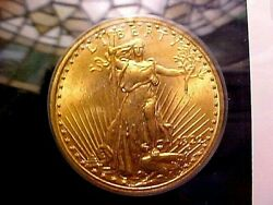 1922 20 Gold Coin St.gaudens W/1986 Anacs Ms60/60 Certificate In Fancy Holder