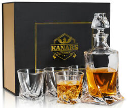 Bourbon Decanter And Glass Set Whiskey Bottle Carafe Gift For Men Dad Father