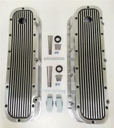 Bbc Big Block Chevy Aluminum Finned Retro Valve Covers Tall 427 454 Cool Look