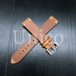 18 Mm Yellow Genuine Leather Strap Band Soft Wax Oil Vintage Replacement 2020