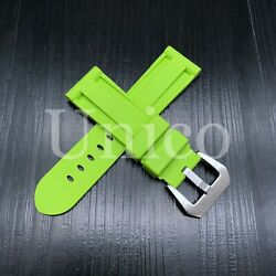 24 Mm Light Green Rubber Silicone Strap Band Soft Vintage Replacement Diver 2021