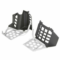 New Silver Heel Guards Footrest For Yamaha Banshee Left Right Nerf Bars