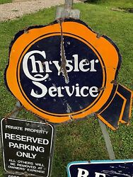 1920's Original Chrysler Service Porcelain Advertising Sign Not Ford Jeep Neon